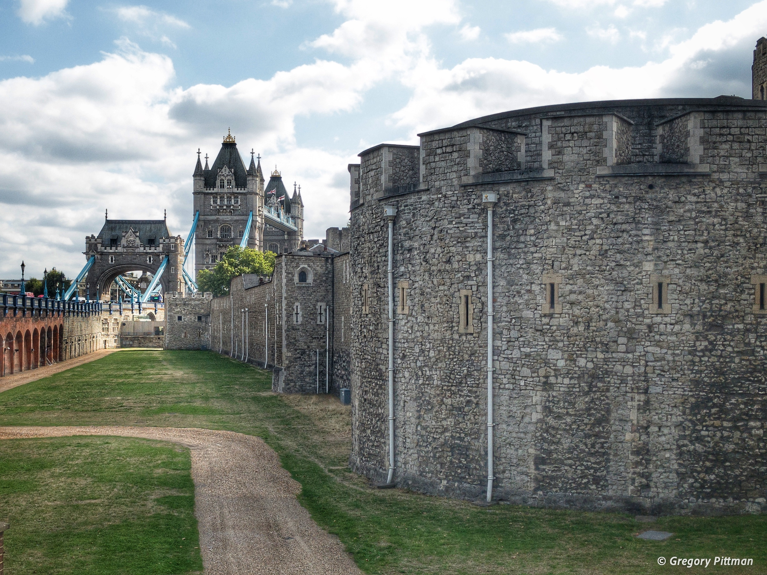 The Outer Wall of the Tower of London, England